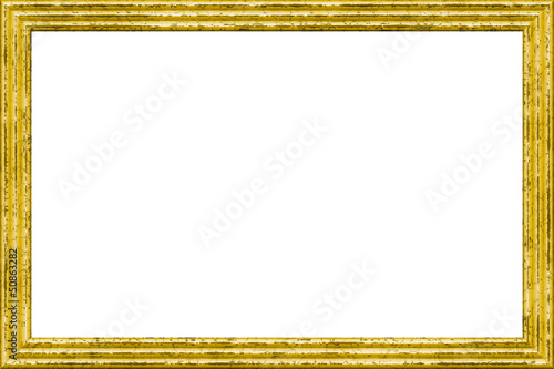 Fototapete Goldener Bilderrahmen  Freigestellt