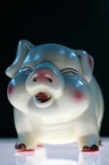 Sparschwein mit Lichtfuehrung von unten..