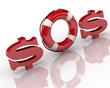 """Сигнал """"SOS"""". Символ доллара. Спасательный круг"""