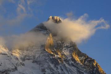 Matterhorn  or Cervino or Cervin (4,478 meters) south face