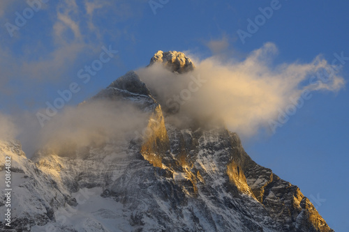 Matterhorn  or Cervino or Cervin (4,478 meters) south face