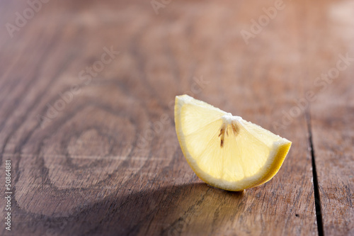 Half a slice of a lemon