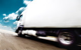 Fototapety velocidad y transporte.Camion en ruta