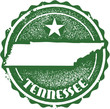 Vintage Tennessee USA State Stamp
