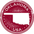Vintage Oklahoma USA State Stamp