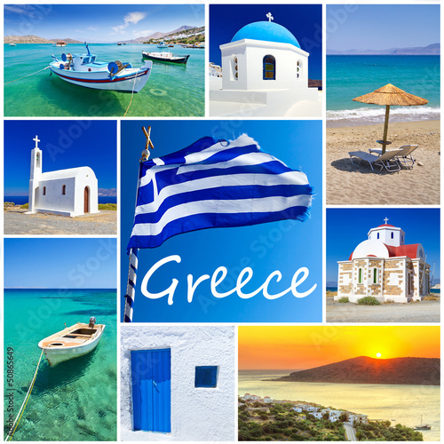 Collage of images from Greece