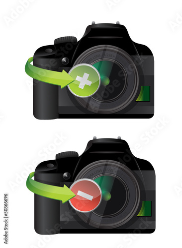 camera plus and minus icons