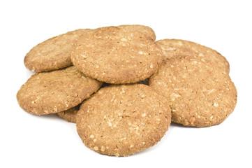 heap of oatmeal cookies