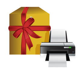 printer gift box