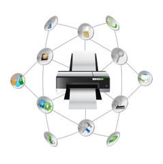 printer settings tools diagram
