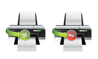 printer plus and minus icons
