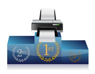 printer winners podium