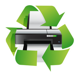 printer recycle concept