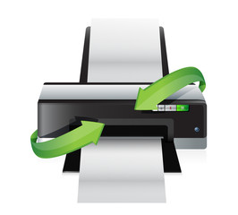 printer turning arrows