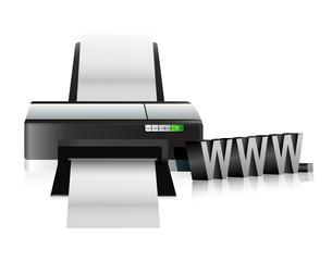 printer www online internet concept