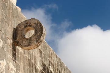 Chichen Itza Maya ruins in Mexico, courd ball