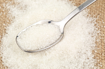 sugar on spoon