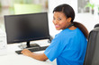 female black nurse in modern office