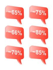 Discount speech bubbles. Part three. Vector illustration