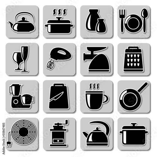 Vector kitchenware icons