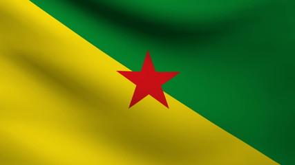 French Guiana flag.