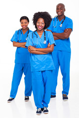 group of african hospital workers