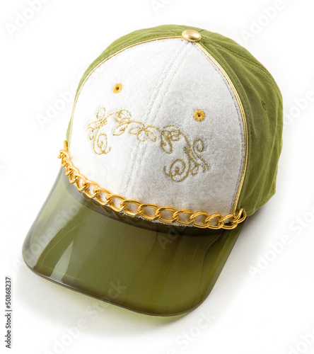 Luxury green and gold cap