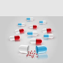 Vector background with pills