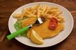 Cotoletta e patatine fritte
