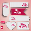 "Set of bubbles, stickers, labels, tags ""Big Sale"". Vector templa"