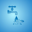 save water sign symbol vector background