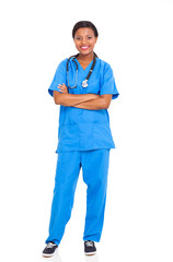 african american female intern nurse
