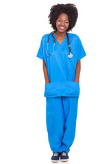 portrait of young african nurse