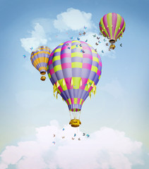 Air balloons in the sky