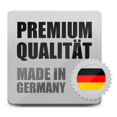 button eckig premium qualitaet made in germany I