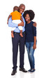 young african family with baby boy