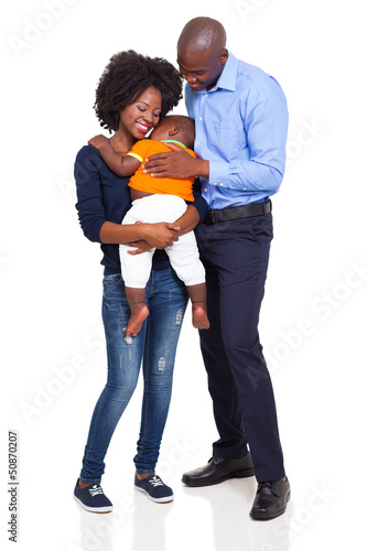 happy young african family full length