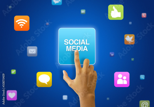 Social Media touchscreen