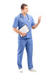 Full length portrait of a male medical practitioner in a uniform