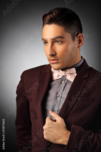 Portrait of a young stylish male