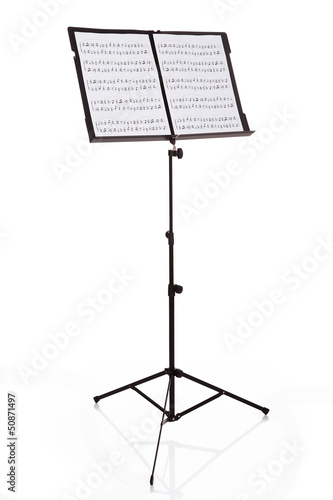 Musical Notes On Stand