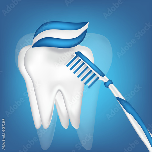 tooth,  toothbrush. mesh illustration
