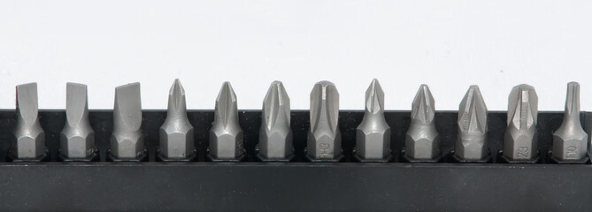 various size screwdriver pieces