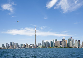 Toronto skyline in the summer
