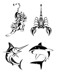 Animal Tatoo set