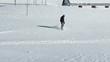 Snowboarder off piste