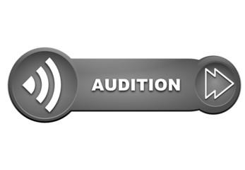 audition sur bouton gris