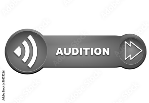 audition sur bouton gris