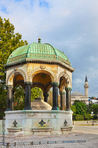 Fountain at Istanbul Turkey