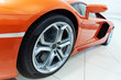 Orange sportscar